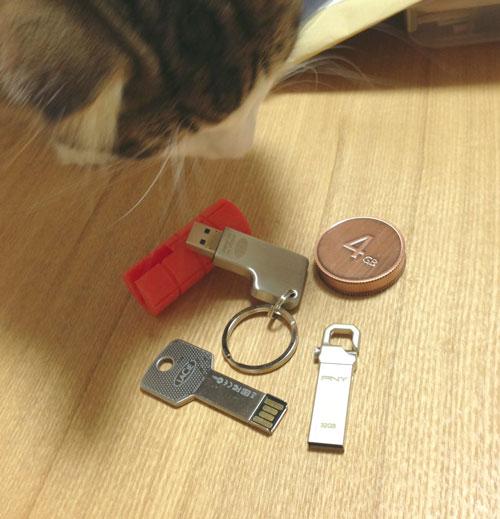USBメモリとねこちゃんず2号