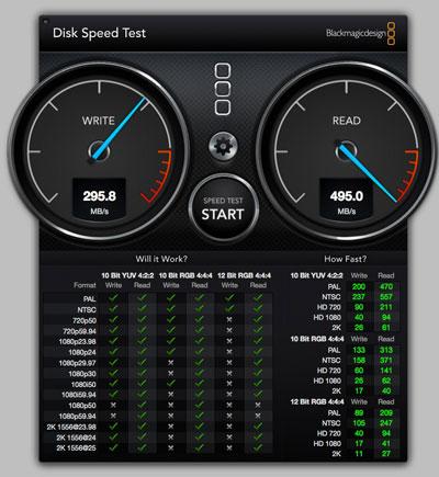 スピードテスト内蔵SSD SATA3