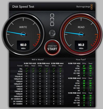 スピードテスト 光学ドライブベイ SATA2 HDD