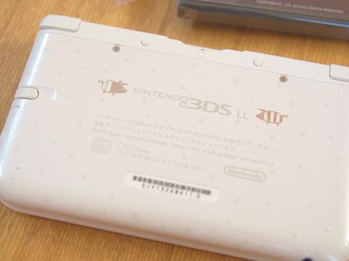 モンスターハンター4 スペシャルパック (アイルーホワイト)3DS LL 裏