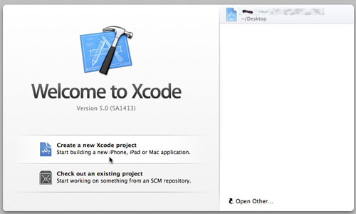 Xcodeを立ち上げると