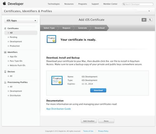 実機にiOSアプリを入れるための作業1