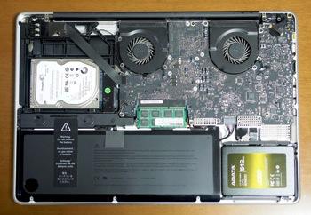 デュアルストレージMacBook Pro 17inch