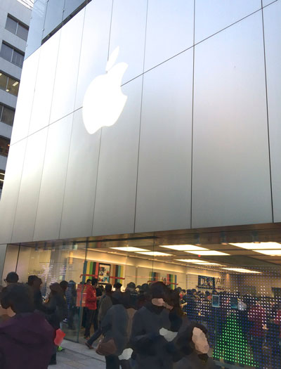 お正月のApple Store銀座