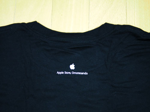 Apple Store表参道Tシャツ後