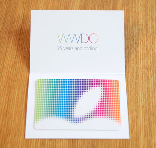WWDC25周年iTunesCard