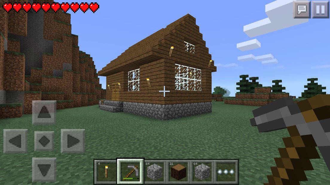minecraft、お家を建てたよ