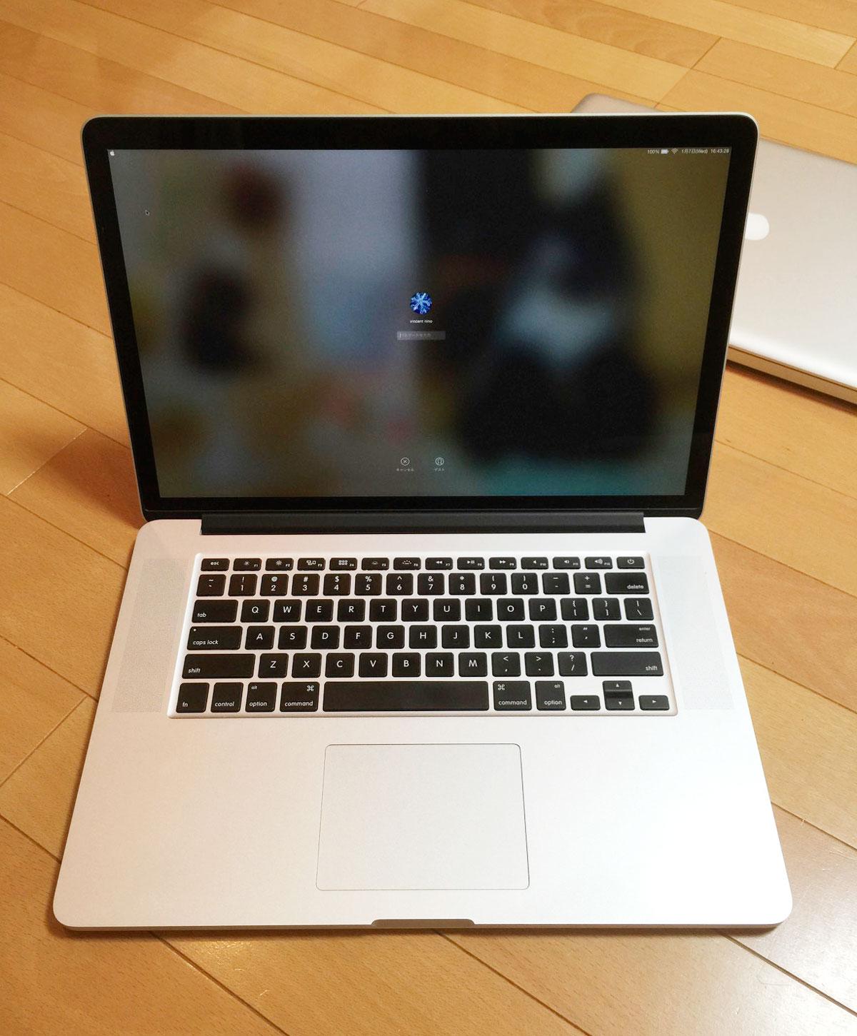 MacBook Pro Retinaディスプレイモデル 15インチ