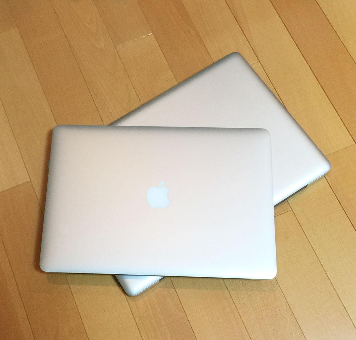 MacBook Pro Retinaディスプレイモデル15インチとMacBook Pro 17インチの比較