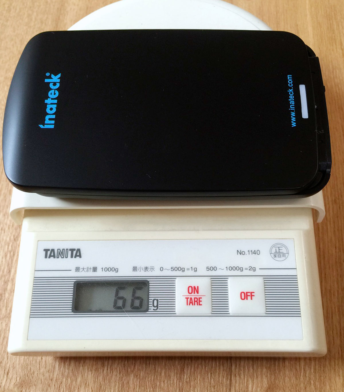 Inateck FEU3NS-1E USB 3.0 2.5インチSSD/HDDケースの重さ