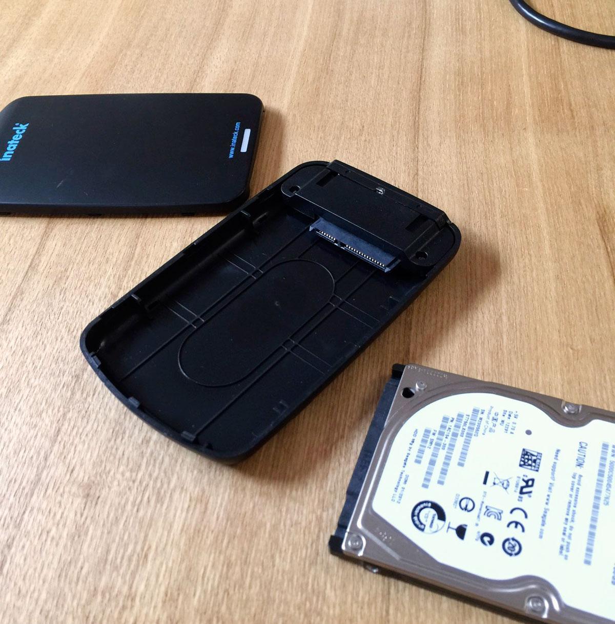 Inateck FEU3NS-1E USB 3.0 2.5インチSSD/HDDケース中