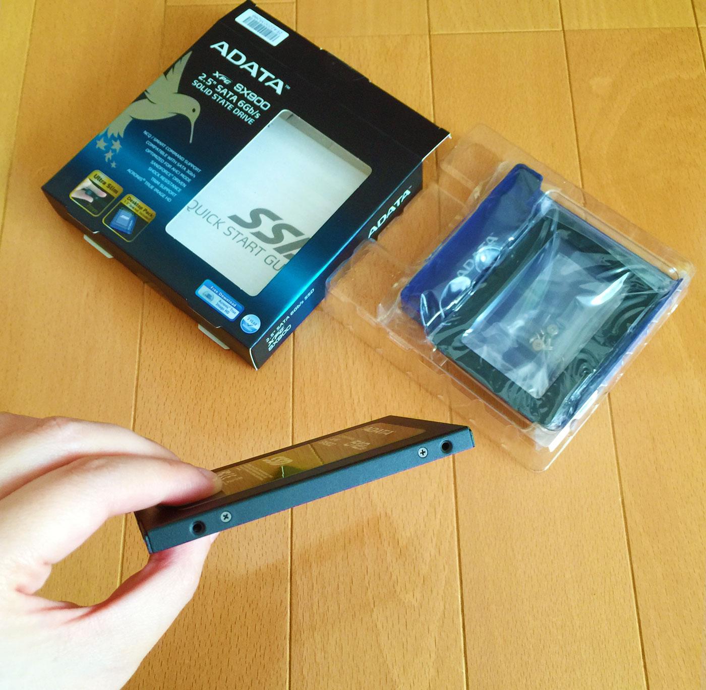 現行の新品交換になったSSD