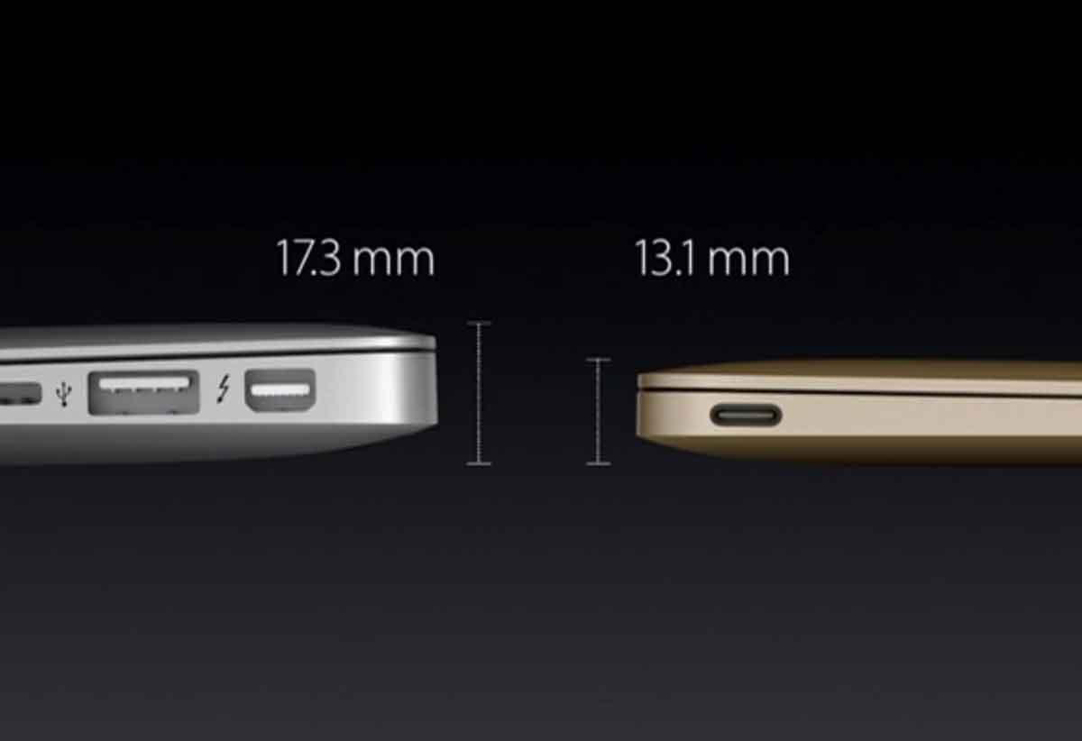 新型MacBookはMacBook Airよりも薄い