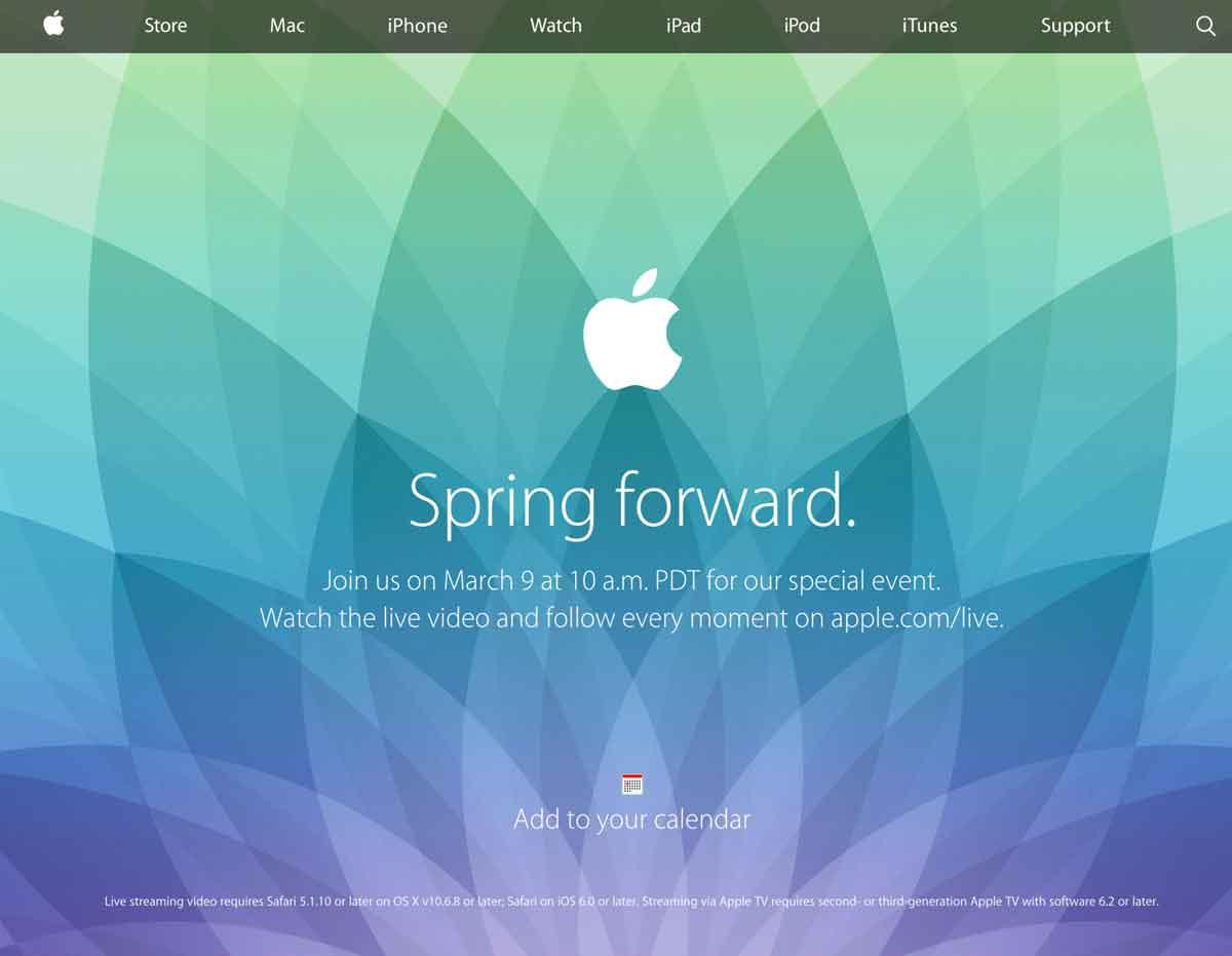 「Spring Forward.」Appleスベシャルイベント