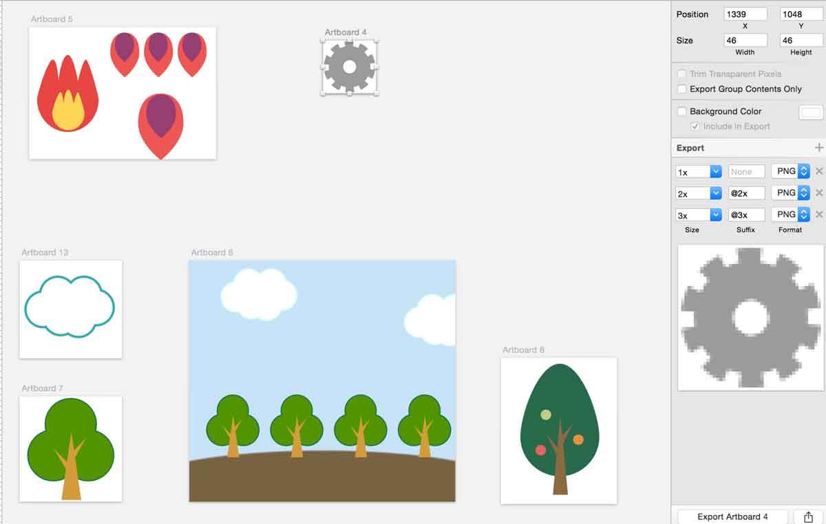 Sketchで簡単なアプリの部品を作る