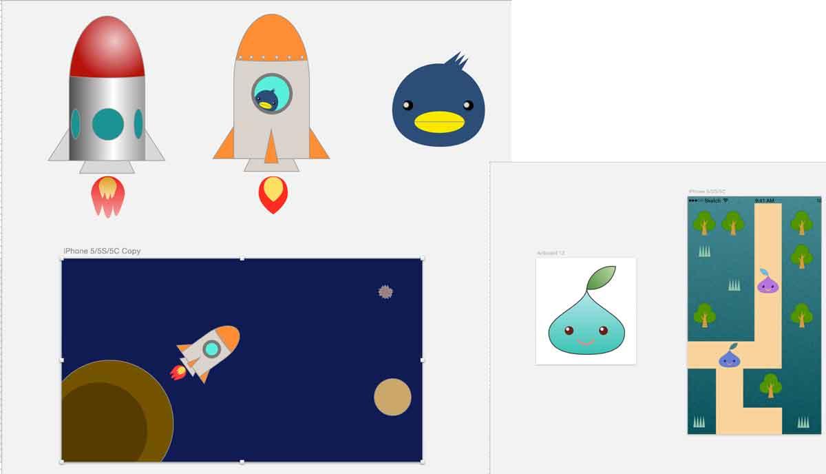 SketchでiPhoneゲームアプリの画像を作る