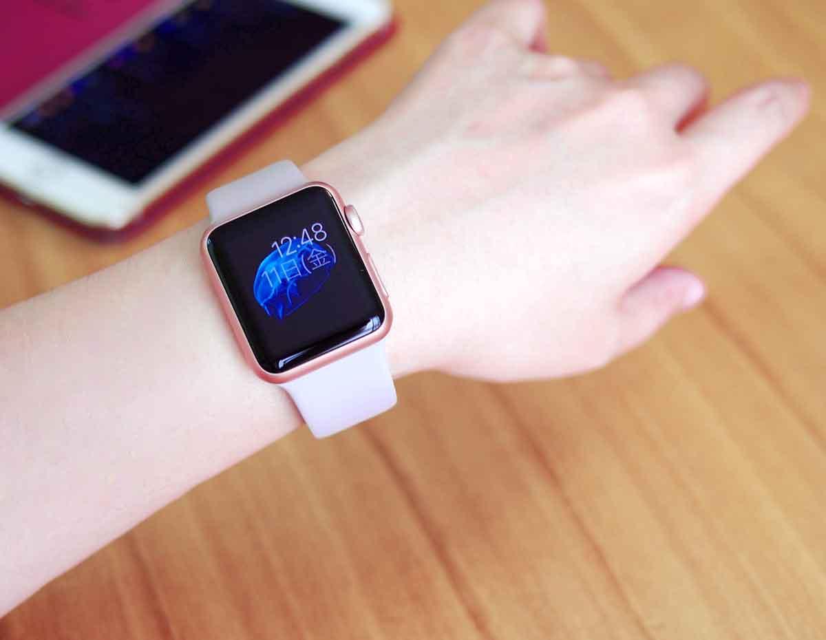 Apple Watch ローズゴールドケース着画