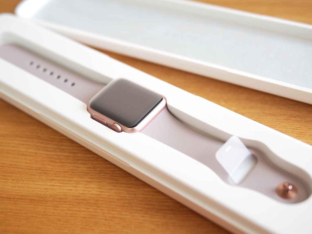 Apple Watch SPORT 38mmローズゴールドアルミニウムケース/ラベンダースポーツバンド2