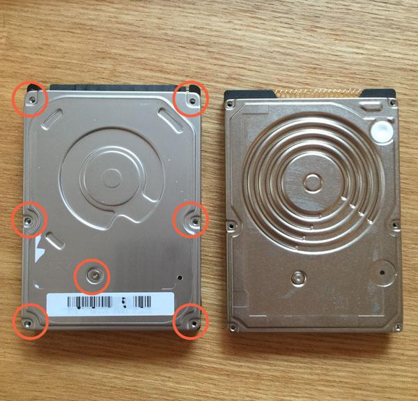 HDDの箱を開けるにはトルクスネジをとらないといけない