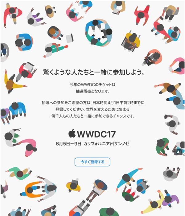 WWDC案内メール
