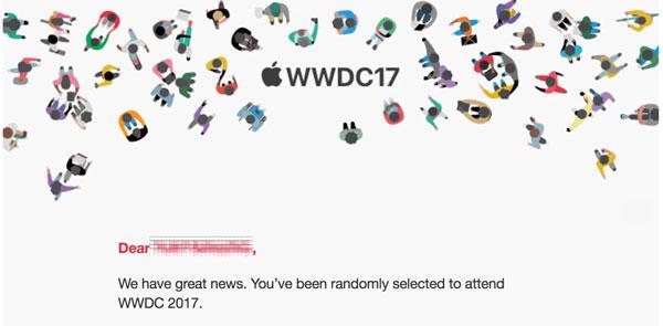 AppleからのWWDC当選メール