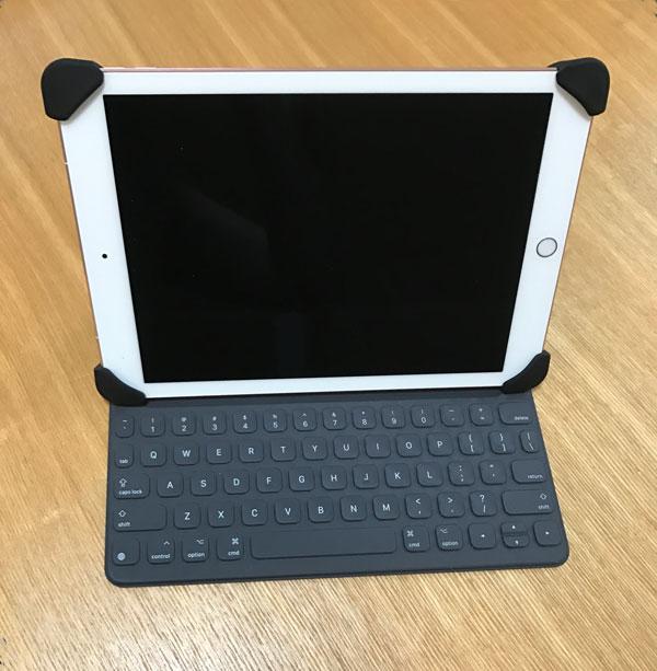 iPad用のPalmoはスマートキーボードと一緒につかえます