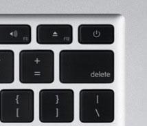 新型MacBook air電源ボタン