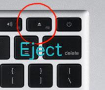 MacBook Air(2010)のイジェクトボタン
