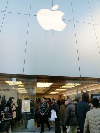 2011.1.2 銀座Apple Storeに行きました