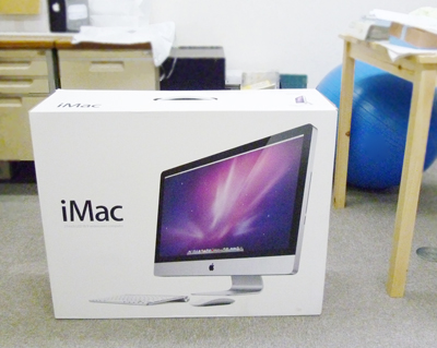 27インチのiMacの箱は大きい