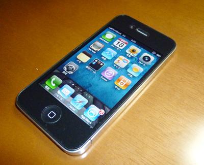 iPhone4と机