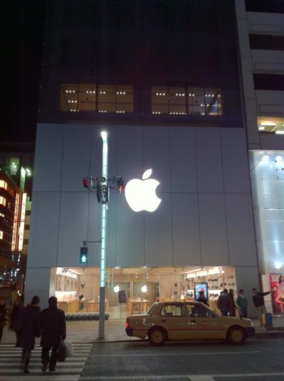 夜のApple Store銀座