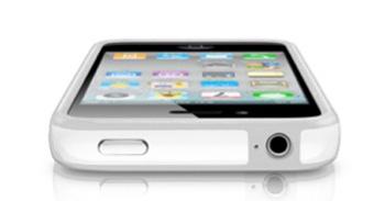Apple純正バンパーはゴムの部分が灰色です。