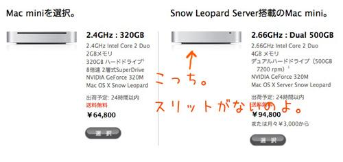 Mac mini ServerとMac miniイメージ図