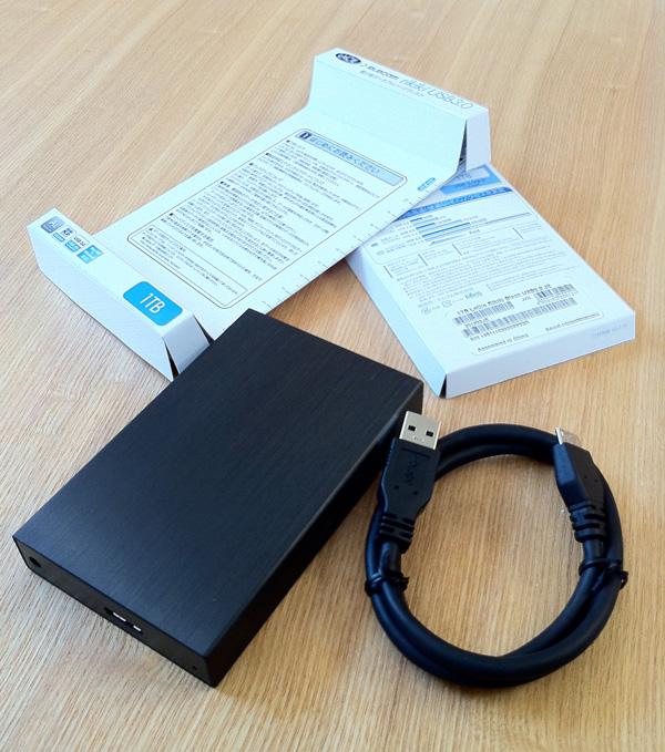 ポータブルハードディスクLaCie rikiki USB3.0を買うと入っているもの