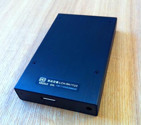 ポータブルハードディスクLaCie rikiki USB3.0の底面