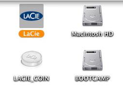 LaCieの製品はアイコンも凝っている