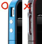 バッテリーケースのサイドボタンの部分はくり抜き型でない方がいい