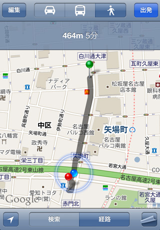 Apple Store名古屋栄から「矢場とん」までの道のり