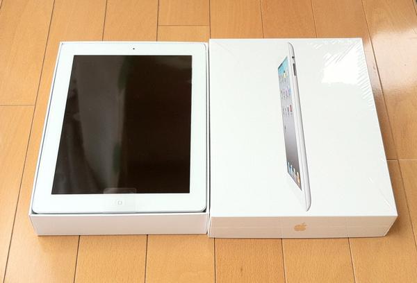 iPad2 白 箱を開けたところ