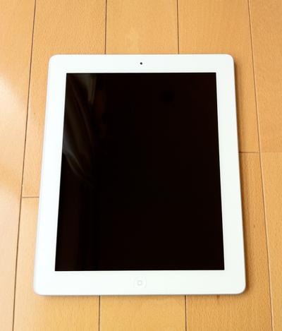 iPad2白の前面、カワイイ