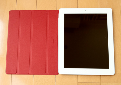 Smart Cover  (PRODUCT) REDを付けた白iPad
