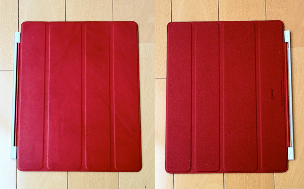iPad Smart Cover - 革製 - (PRODUCT) RED 表/裏