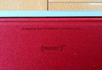 iPad Smart Cover - 革製 - (PRODUCT) REDのロゴ