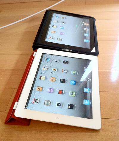 Apple純正品iPad 2専用 Smart Coverと初代iPad Caseのスタンドの角度は一緒 横