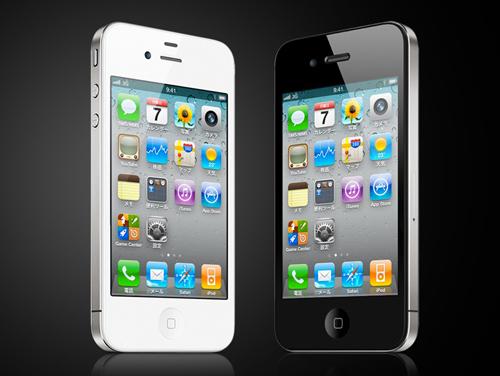 iPhone4のホワイトがブラックに出会った。