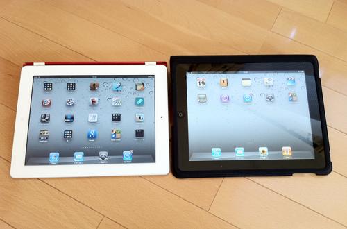 iPad 2と初代iPad