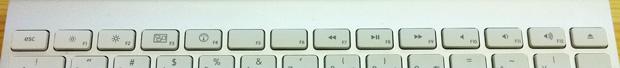 Macのワイヤレスキーボードのファンクションキー