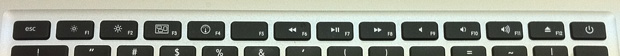 MacBook Air mid 2010のファンクションキー