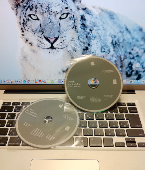 Lionを目の前にMac OS X snowleopardをクリーンインストールする